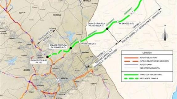 Mapa del tramo sometido a información pública