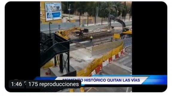 Retirada de las vías en Santiago el Mayor