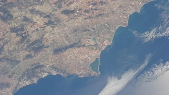 La Región de Murcia, desde la Estación Espacial Internacional
