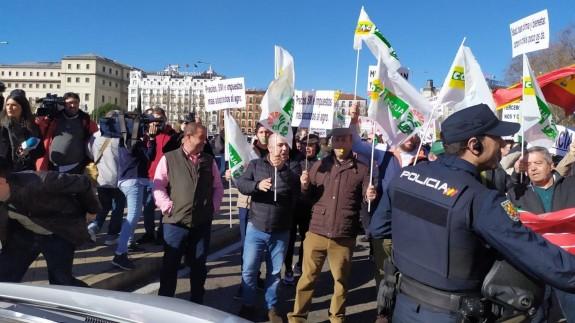 Manifestación en Madrid contra los bajos precios en la agricultura