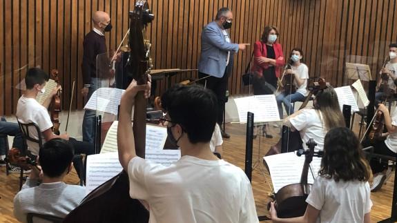Jornada de trabajo de la Orquesta de Aspirantes de la Región de Murcia. CARM.