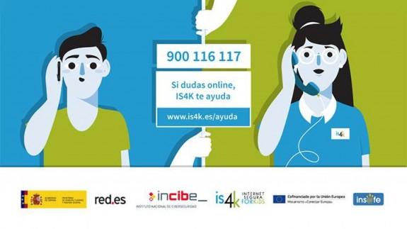 Teléfono de ayuda de is4kids, el servicio de información del Instituto Nacional de Ciberseguridad