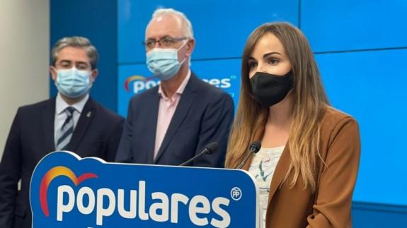 Los concejales del PP en el Ayuntamiento de Murcia comparecen en rueda de prensa