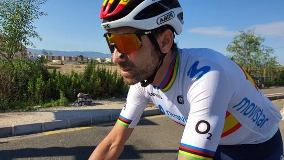Alejandro Valverde, en un entrenamiento