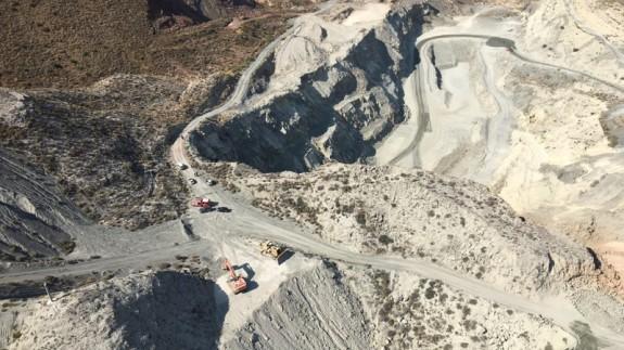 Rescate del trabajador fallecido en una cantera de Abarán