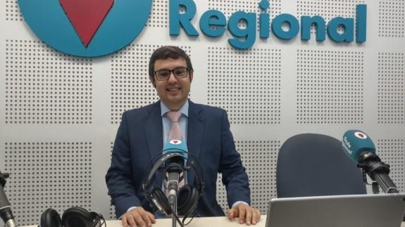 Germán Teruel en el estudio de Onda Regional