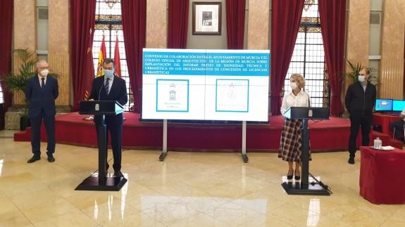 Firma del convenio entre el Ayuntamiento de Murcia y el Colegio de Arquitectos. ORM