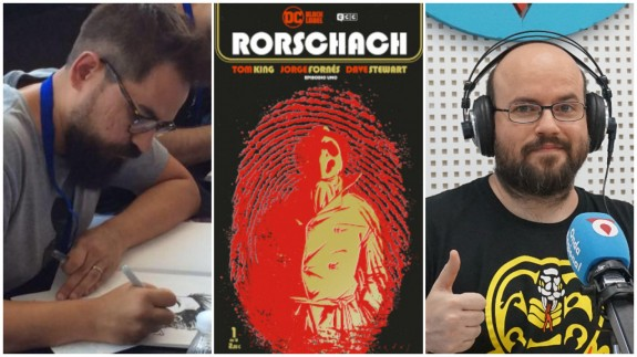 Jorge Fornés, portada de 'Rorschach' y Antonio G. Caballer