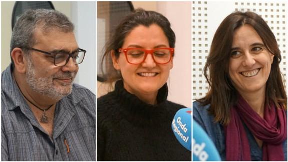 José Ramón Salcedo, María Magnolia Pardo López y Belén Andreu