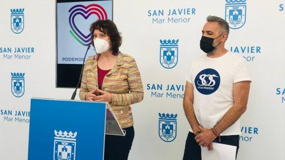 María Marín con Matías Cantabella. AYUNTAMIENTO SAN JAVIER