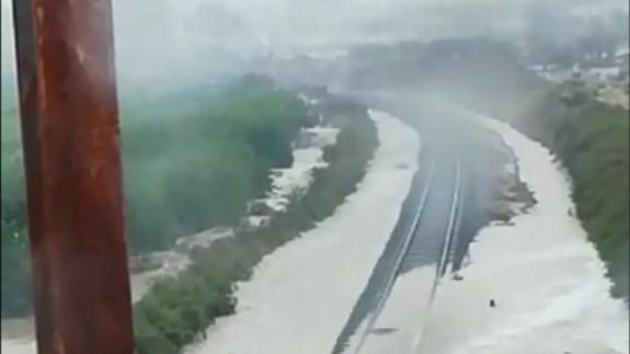 Suspendida la circulación ferroviaria entre la Región y Albacete