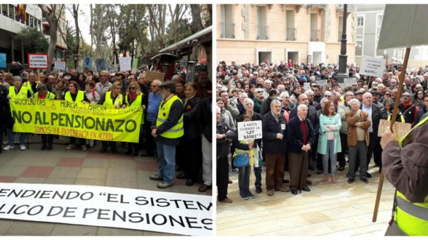 Manifestaciones por las pensiones en Murcia y Cartagena