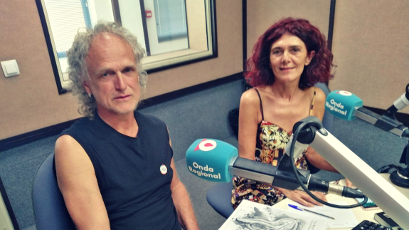 Günter Hermeyer y Teresa Vicente en la entrevista.