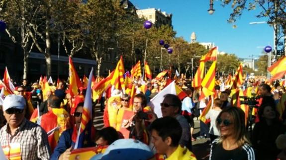 Manifestación de hoy en Barcelona. EUROPA PRESS