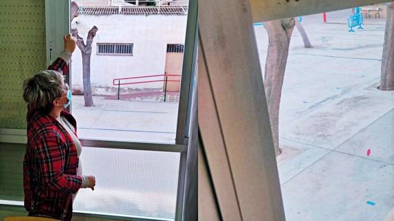 Pliego y Campos del Río colocan aislamiento en las ventanas de los colegios