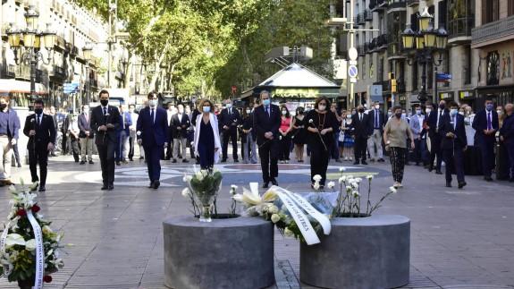 Acto de homenaje a las víctimas de los atentados en Cataluña
