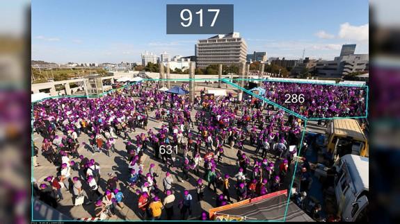Imagen de la aplicación de conteo masivo de personas