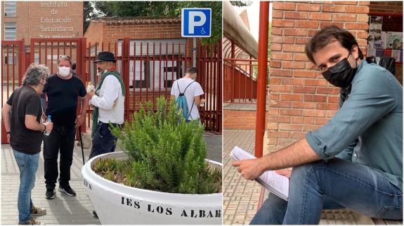 Javier Sánchez Serna antes del examen hoy en Cieza