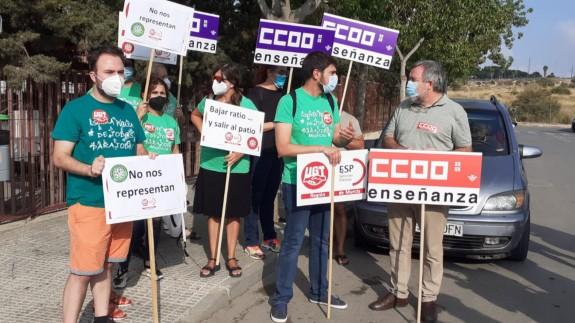 Protesta de los sindicatos este viernes en Murcia
