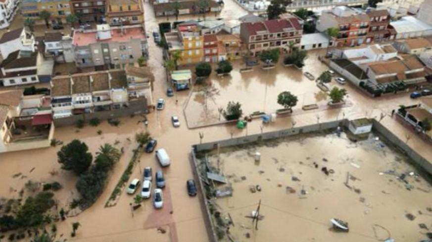 Inundaciones en Los Alcázares en diciembre de 2016. ORM