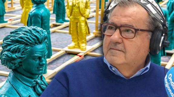Juan González Cutillas y esculturas de Beethoven