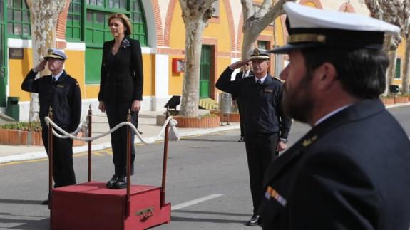 Cospedal, en la base de submarinos de Cartagena