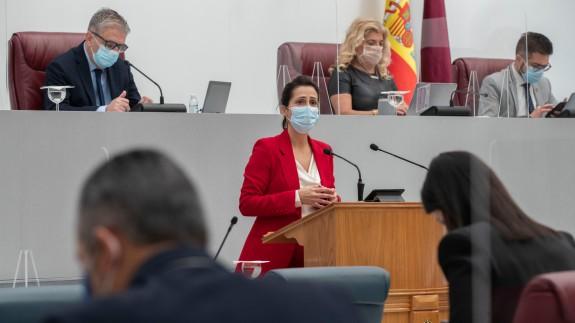 Cristina Sánchez durante su comparecencia