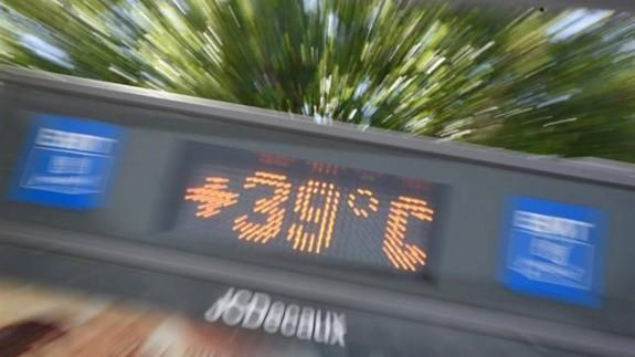 termómetro a 39º