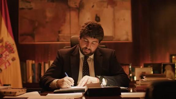 López Miras en el vídeo con el que felicita la Navidad