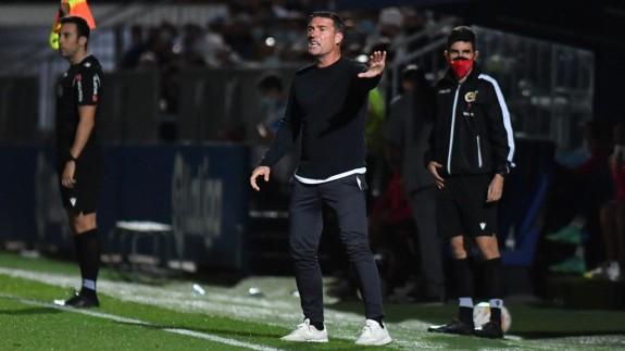 Luis Carrión, en el partido contra el Fuenlabrada