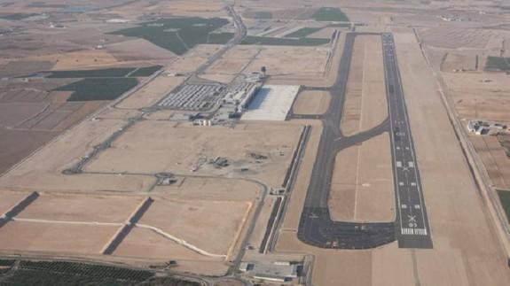 Imagen aérea del aeropuerto de Corvera