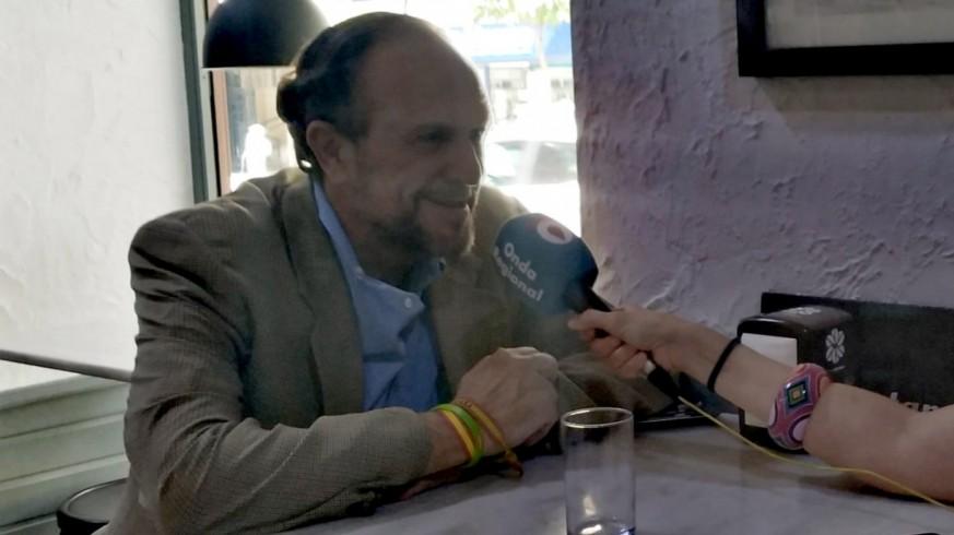 Luis Gestoso durante la entrevista a Onda Regional