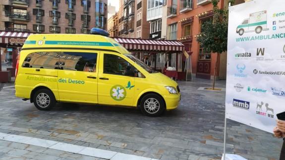 Presentación de la Ambulancia del Deseo este lunes en Murcia