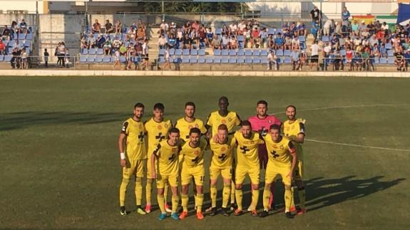 Alineación del Lorca Deportiva en Écija (foto: Lorca Deportiva)