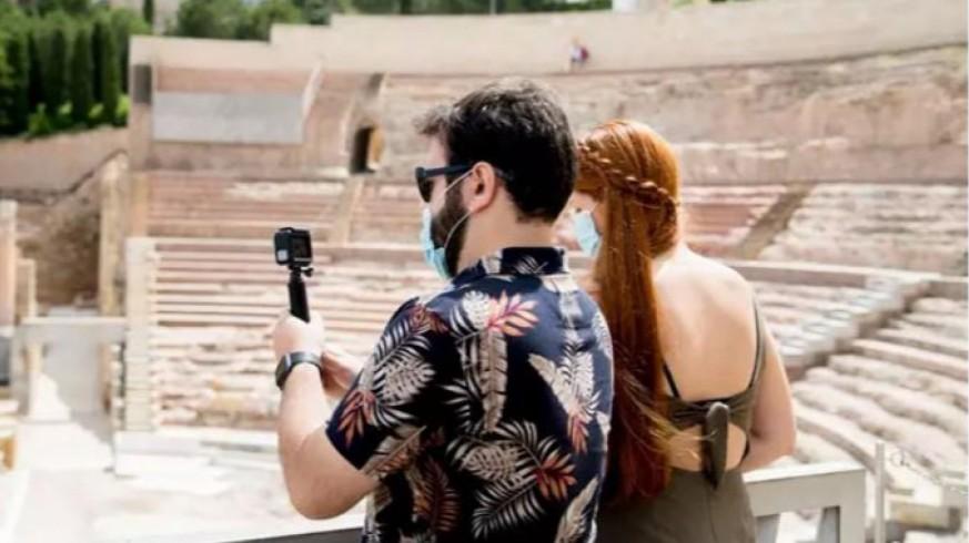 Turistas en el Teatro Romano (archivo). AYTO. CARTAGENA