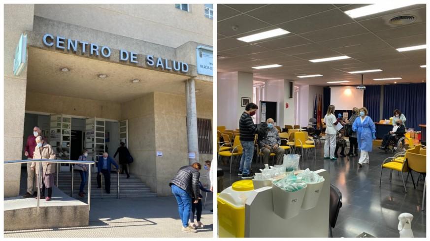 Vacunación contra la Covid de mayores en el centro de salud de San Andrés. ORM