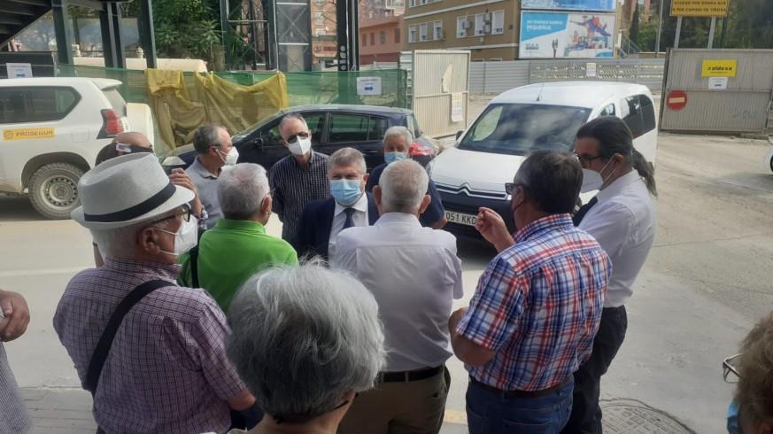 El delegado del Gobierno ha visitado Santiago El Mayor