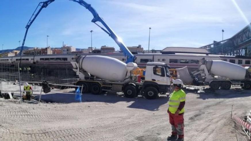 Obras de soterramiento del AVE en Murcia. Plataforma Prosoterramiento