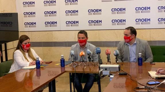 Rueda de prensa ofrecida este viernes en Murcia.