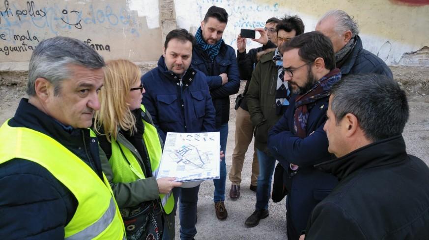 Visita obras túnel de Lorca
