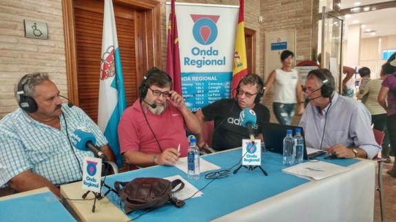 Vicente Carrión, Fernando Vera, Santiago Pérez y Miguel Massotti