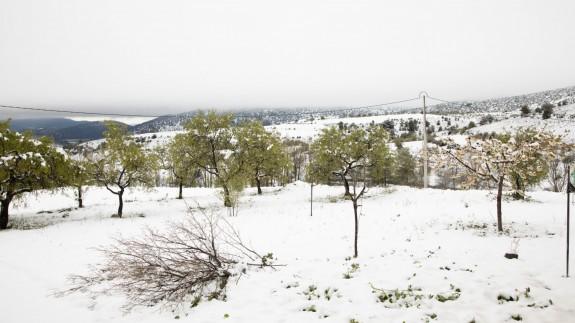 Nieve en Inazares este pasado fin de semana
