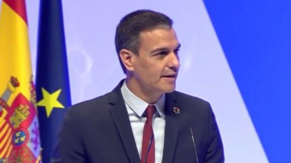Pedro Sánchez durante la presentación del proyecto España 2050