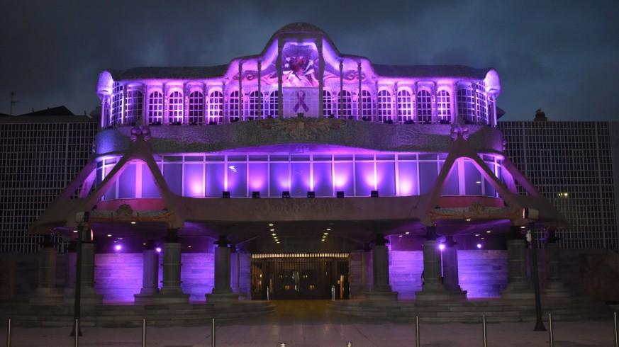 La Asamblea Regional, iluminada de morado con motivo del 8M
