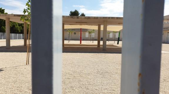 Patio de un colegio vacío