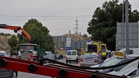 Un motorista herido grave tras chocar con un turismo en Cieza