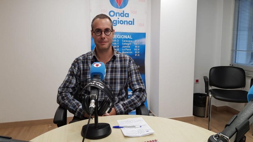 Andrés Montalbán en los estudios de ORM en Cartagena