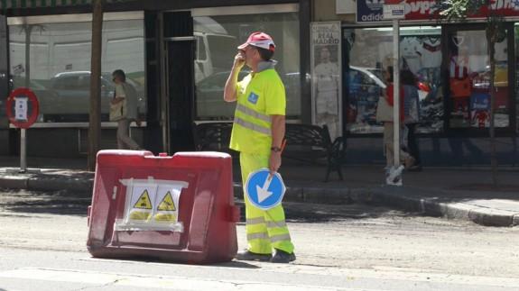 obrero en la calle