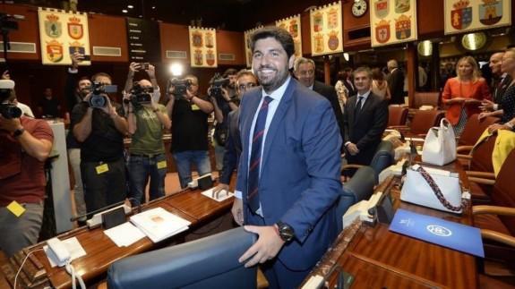 López Miras tras ser investido.