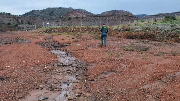 Escorrentías de metales pesados desde la Sierra Minera